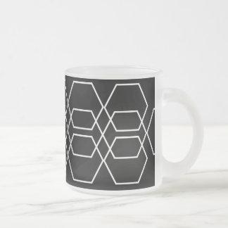 Geometric 3 frosted glass coffee mug