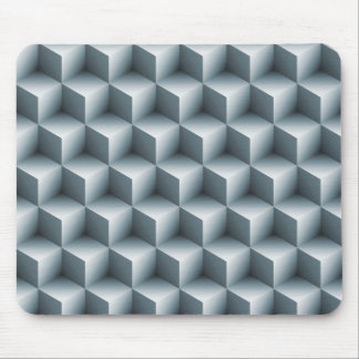 Geometric 3D Cubes Mouse Pad