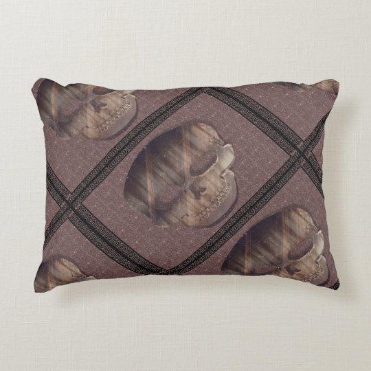 "Geometric 3D Skull Cotton Accent Pillow 16"" x 12"""