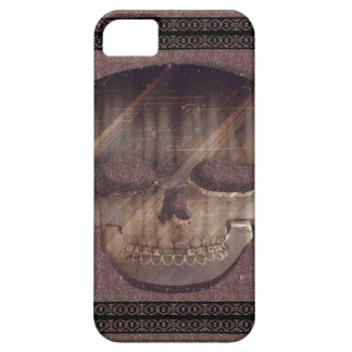 Geometric 3D Skull with a Frame Vintage Style iPhone 5 Cases