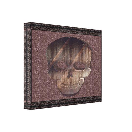 Geometric 3D Skull with Frame Canvas Print