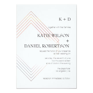 Geometric 5x7 Wedding Invitation