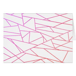 Geometric abstract Art party greeting Card