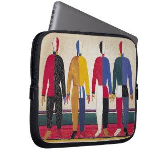 "Geometric Abstract Art ""Sportsmen"" Malevich Laptop Sleeve"
