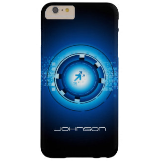 Geometric Abstract Blue Hi-Tech Pattern Barely There iPhone 6 Plus Case