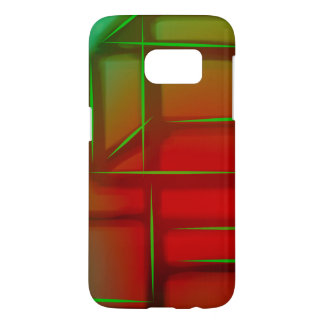 Geometric Abstract Digital Art Samsung Galaxy S7 Case