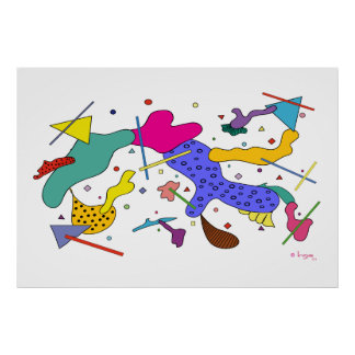 Geometric Abstract Expressionism Cubism poster