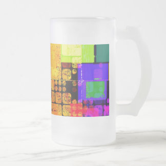Geometric Abstract Frosted Glass Mug