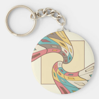 Geometric abstract keychain