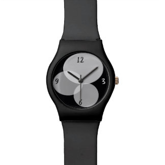 Geometric Abstract Modern Black White Minimal Cool Watch
