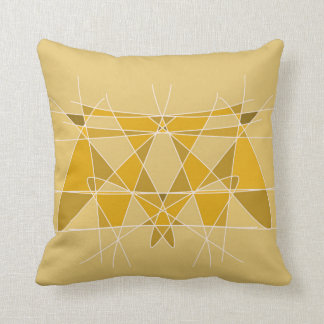 Geometric Abstract Moth Design Artwork Throw Pillow