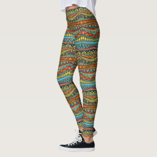 Geometric Abstract Multi Color Leggings