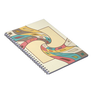 Geometric abstract notebook