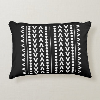 geometric abstract pattern bold black and white accent pillow