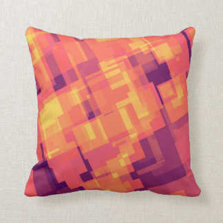 geometric abstract pattern design on a pillow