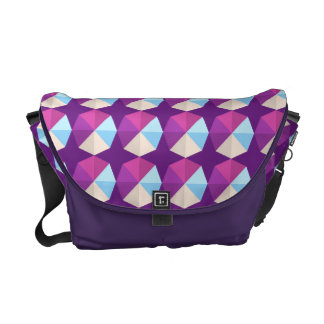 Geometric Abstract Pattern Messenger Bag