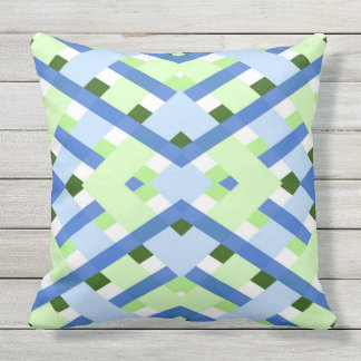 Geometric abstract pattern outdoor pillow