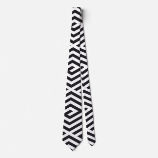 Geometric abstract pattern tie