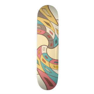 Geometric abstract skate boards