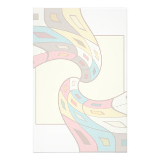 Geometric abstract stationery