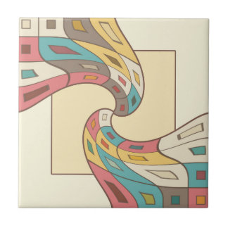Geometric abstract tile