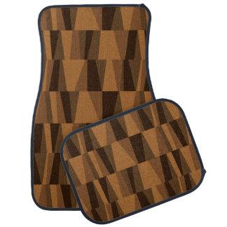 Geometric Abstract Triangles brown tan mocha Auto Mat