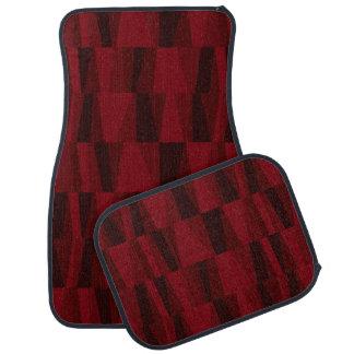 Geometric Abstract Triangles | cranberry aubergine Car Floor Carpet
