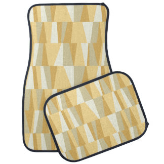 Geometric Abstract Triangles | cream tan taupe Auto Mat