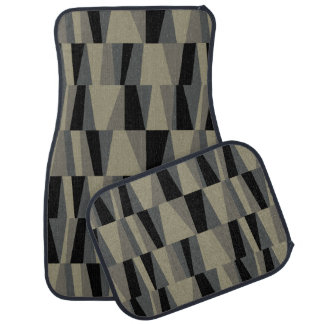 Geometric Abstract Triangles | grey black taupe Auto Mat