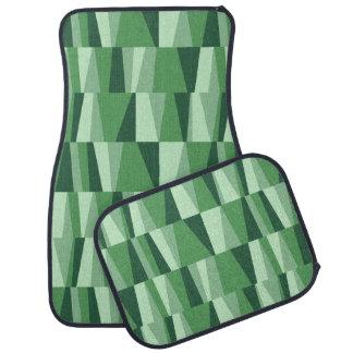 Geometric Abstract Triangles | jade green mint Auto Mat