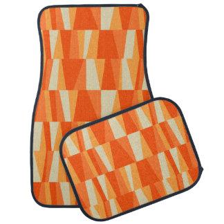 Geometric Abstract Triangles | tangerine orange Car Floor Carpet