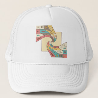 Geometric abstract trucker hat