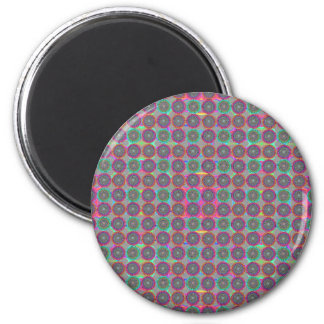 Geometric abstraction 2 inch round magnet