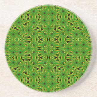 Geometric African Print Drink Coaster