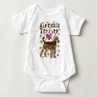Geometric Airedale Terrier Baby Bodysuit