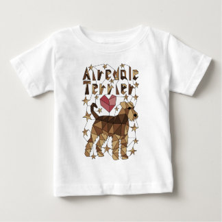 Geometric Airedale Terrier Baby T-Shirt