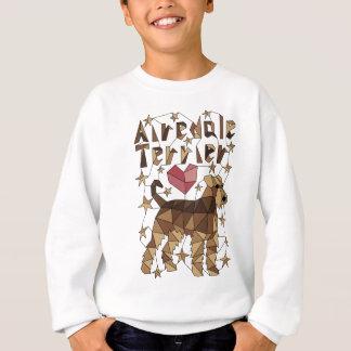 Geometric Airedale Terrier Sweatshirt