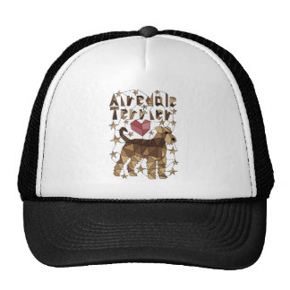 Geometric Airedale Terrier Trucker Hat