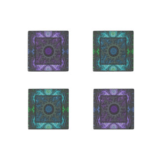 Geometric and Fractal Design Stone Magnets