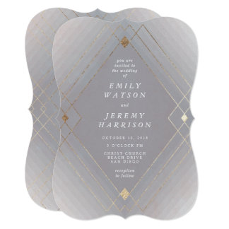 Geometric Art Deco Great Gatsby Wedding Invitation