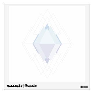 Geometric art digital jewel wall decal