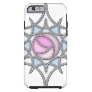 Geometric Art Nouveau Rose within a Snowflake Tough iPhone 6 Case