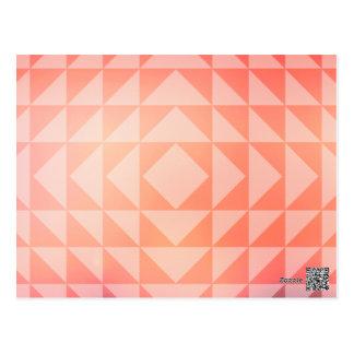 Geometric Art Triangles Fractals Blue and Orange Postcard