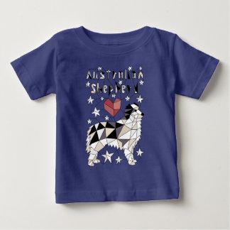 Geometric Australian Shepherd Baby T-Shirt