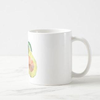 Geometric avocado coffee mug