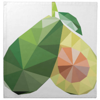 Geometric avocado napkin
