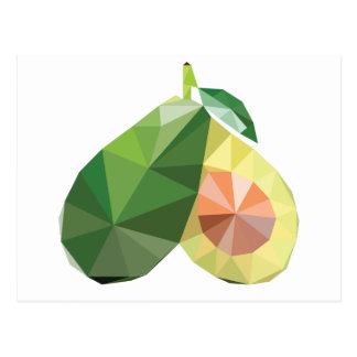 Geometric avocado postcard