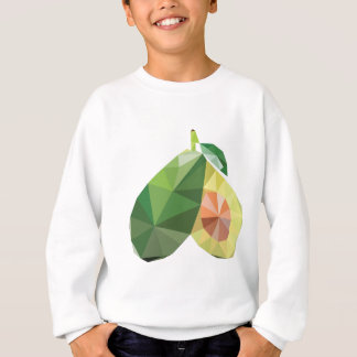 Geometric avocado sweatshirt