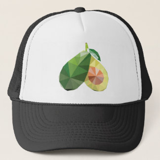 Geometric avocado trucker hat