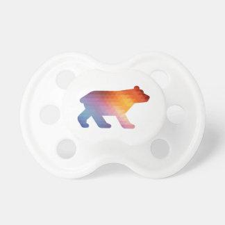 Geometric Baby Bear 🐻 Pacifier